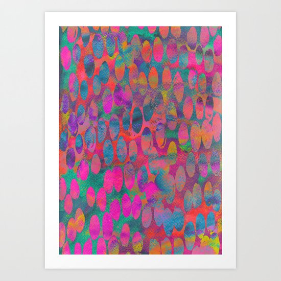 Painterly Spots Art Print