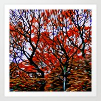 Raging Trees Art Print