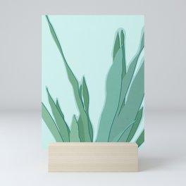 Minimal Snake Plant Leaves - Greener Eden Mini Art Print