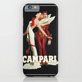 Vintage Campari Italian Bitters Angel and Devil Advertisement iPhone Case