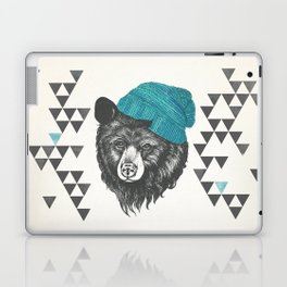 bear in blue Laptop & iPad Skin