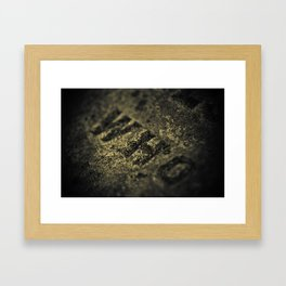 Who in Stone Framed Art Print