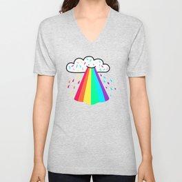 Rainbow Blast Unisex V-Neck