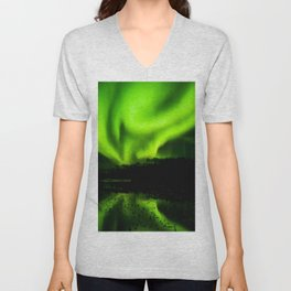 Northern Lights (Aurora Borealis) 4. Unisex V-Neck
