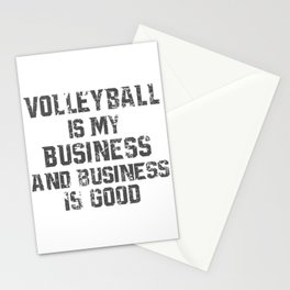 Volleyball is my Business Stationery Cards