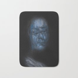 In blue Bath Mat
