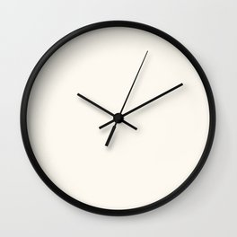 Alabaster White - Solid Color Collection Wall Clock