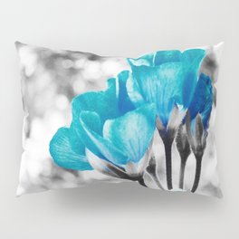Turquoise FloWERS Pop of Color Pillow Sham