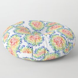 Color My Swirled Floor Pillow
