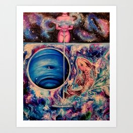 Zodiac Sign - Pisces Art Print