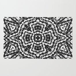 Black and white geometric pattern . The Maltese cross . Rug