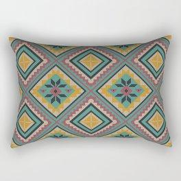 Dark Ethnic Weave Rectangular Pillow