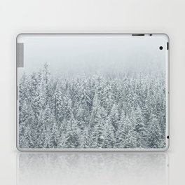 snow  forest winter trees Laptop & iPad Skin