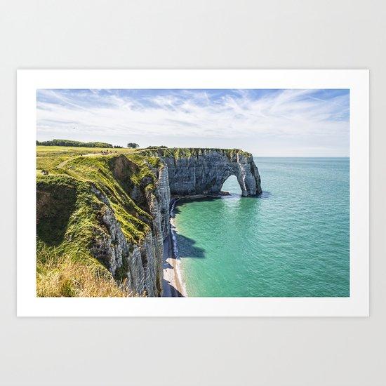 The cliffs of Etretat Art Print