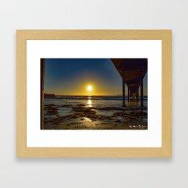 A Piers Edge (Ocean Beach 08-2015) Framed Art Print