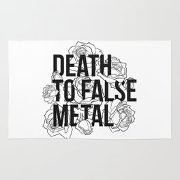 Death to False Metal / Roses Rug