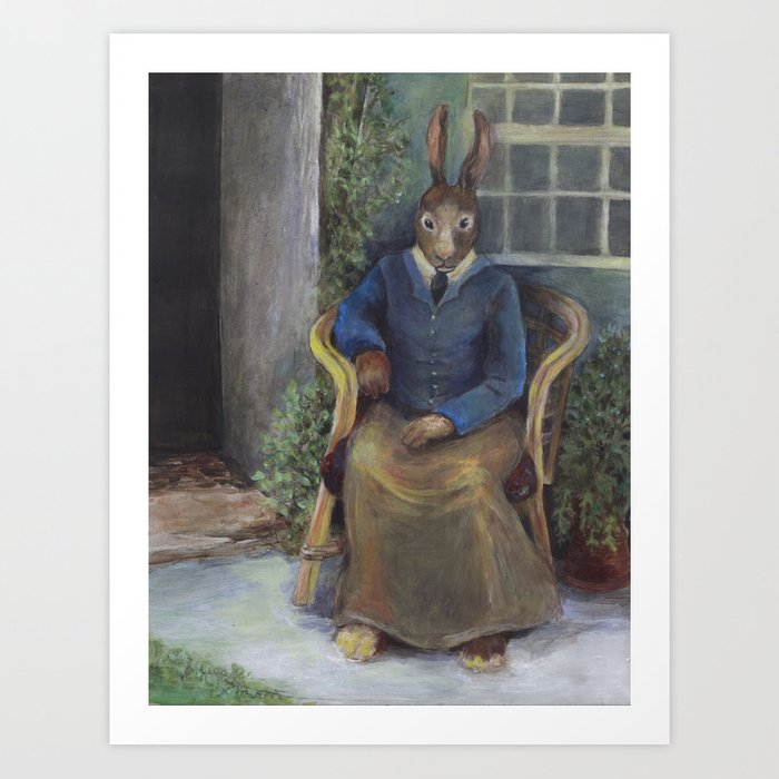 Beatrix Rabbit (an homage) Art Print