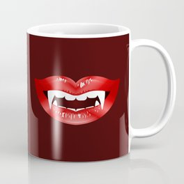 Vampire Mouth Illustration With Red Lips And Fangs Coffee Mug