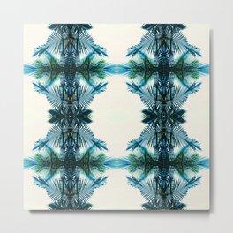 teal fern pattern Metal Print