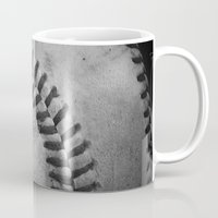 baseball Mugs featuring Baseball by Christy Leigh