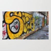 graffiti Area & Throw Rugs featuring Graffiti by Jason Michael
