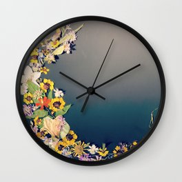 Floral Crest Wall Clock