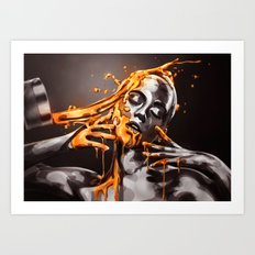 Paint me Gold Art Print
