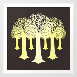 electricitrees Art Print