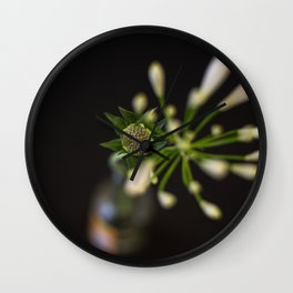 Blued Perspectives in Rotterdam Marketplace Wall Clock