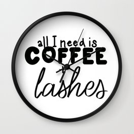 Coffee & Lashes Wall Clock
