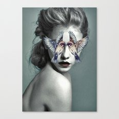 Woman With Birds Canvas Print