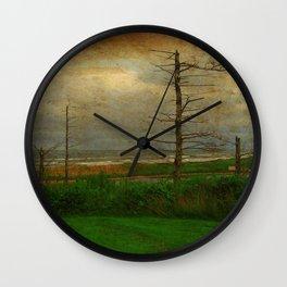Landscape   Desolate Beach   Stormy Seascape   PEI Canada   Nadia Bonello Wall Clock