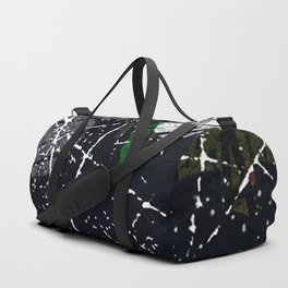 Abstract Black and White Etching Design Duffle Bag