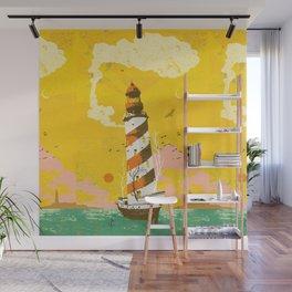 LIGHTHOUSE SHIP Wall Mural