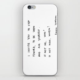 if not me, who? if not now, when? iPhone Skin