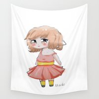 chibi Wall Tapestries featuring Lovely chibi by Miss No!