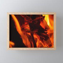 Warm Macro bonfire Photography Fire Framed Mini Art Print