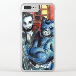vampire and dog Clear iPhone Case