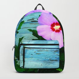 Country Blue Barn Wood Flag Backpack