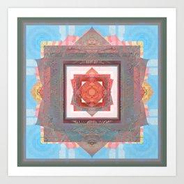 Peace is my Passion Boho Bliss Sacred Geometry Mandala Art Print