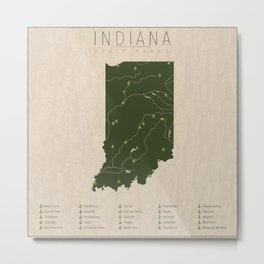 Indiana Parks Metal Print