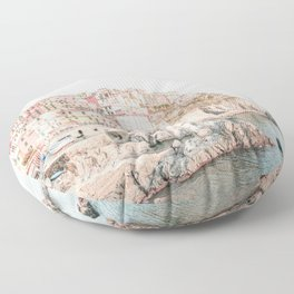Positano, Italy Amalfi Coast Romantic Photography Floor Pillow