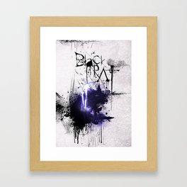 Black Rat (violet) Framed Art Print