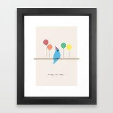 Birthday Birds Framed Art Print
