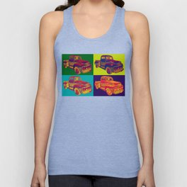 Colorful 1951 Ford F-1 Pickup Truck Pop Art  Unisex Tank Top