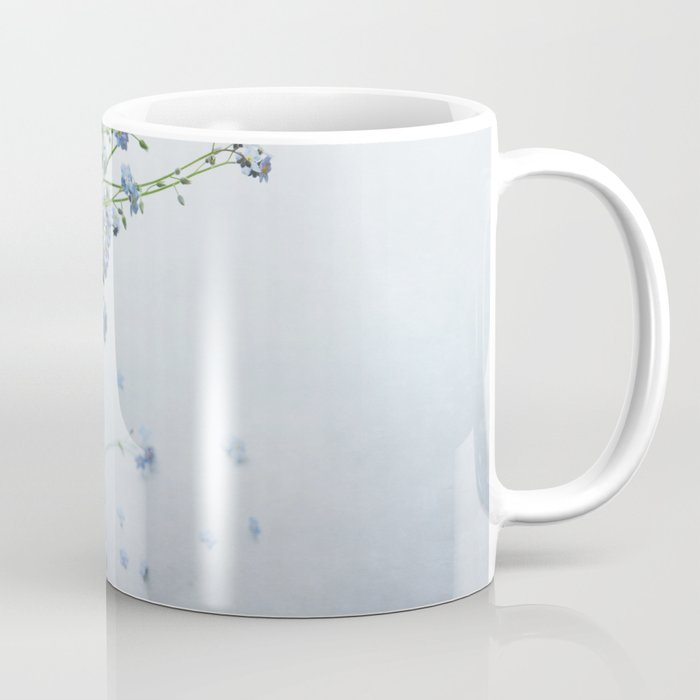 Forget-me-not bouquet in Blue jar Coffee Mug