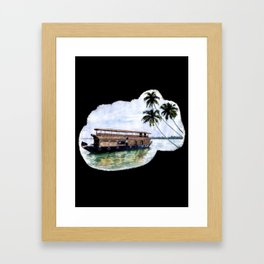 Kerala House Boat - 204 Framed Art Print