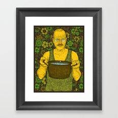 Cook (green) Framed Art Print