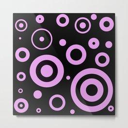Modern abstract circles Metal Print