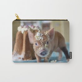 Funny pig and  the cake Carry-All Pouch
